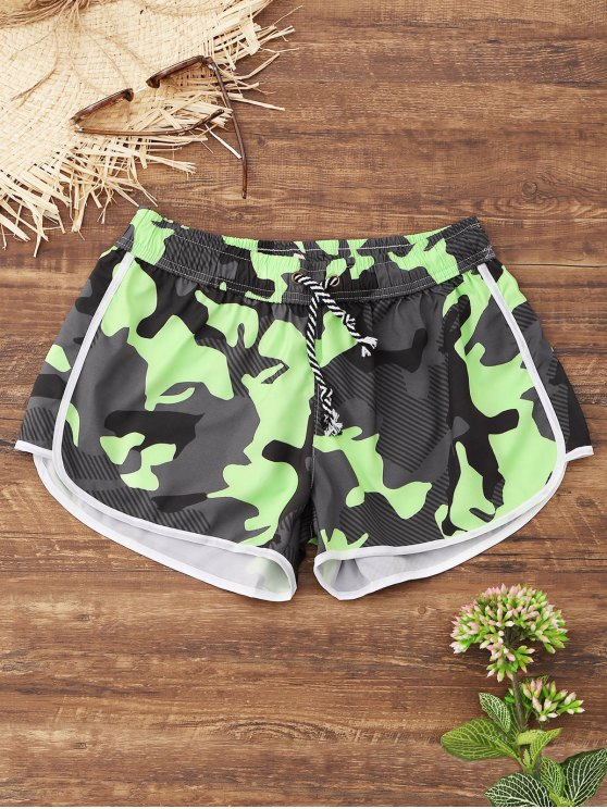 hot Camo Beach Shorts - ACU CAMOUFLAGE M