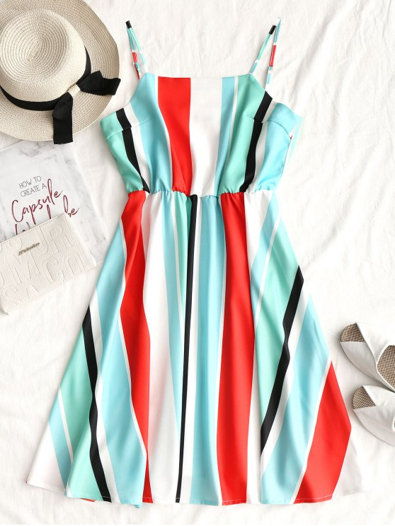shop Cami Casual Stripes Mini Dress - STRIPE XL