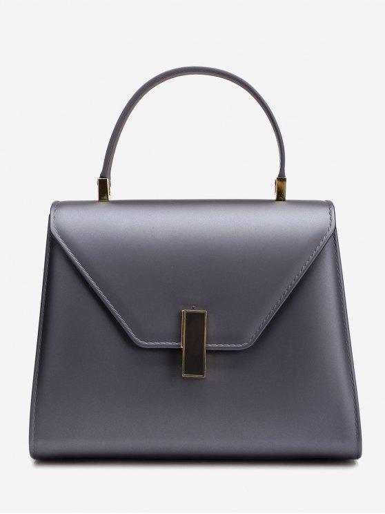 Flap minimalistische Handtasche mit Strap - Dunkelgrau