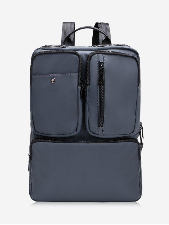 fashion Multipurpose Laptop Waterproof Backpack - DEEP GRAY