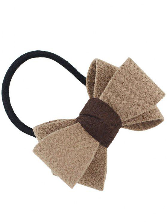 Bowknot Ornament Band Elastic Hair - Cor de Caqui
