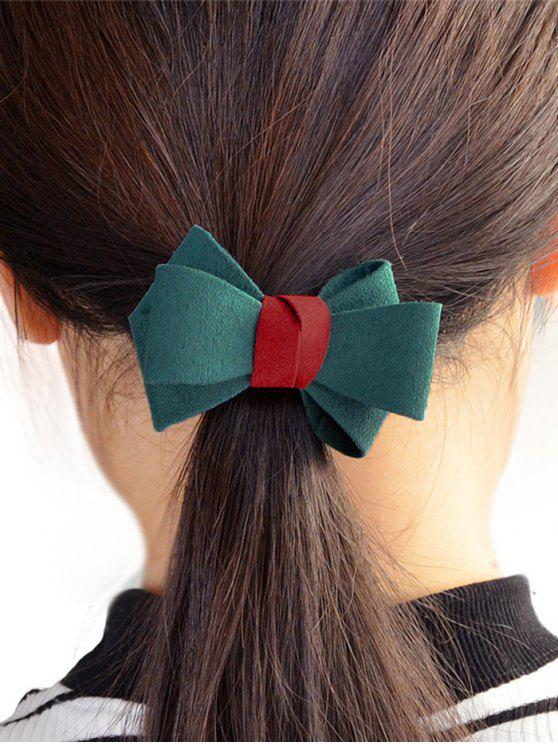 Bowknot Ornament Elastic Hair Band - Verde