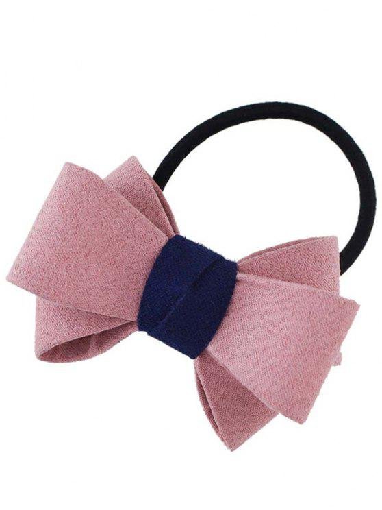 Bowknot Ornament Elastic Hair Band - Rosa