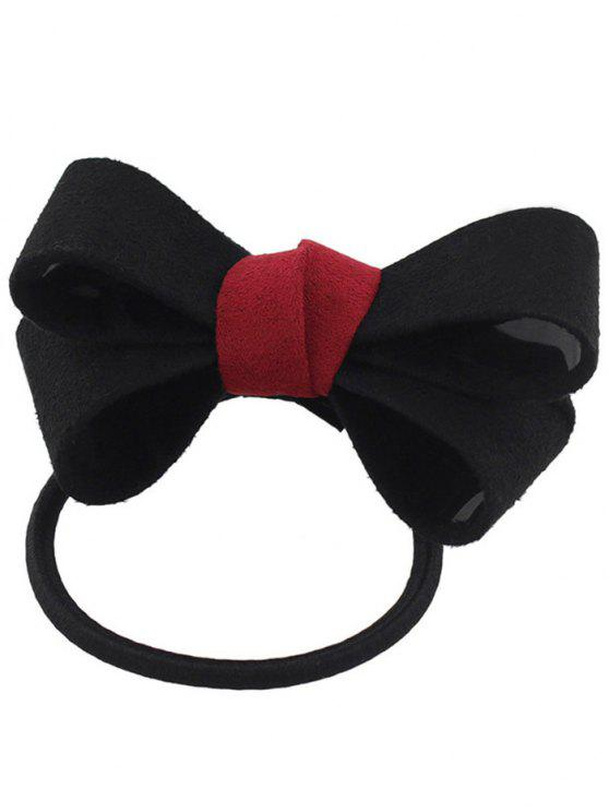 Bowknot Ornament Elastic Hair Band - Negro