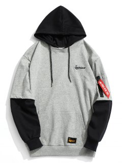 Pouch Pocket Mens Hoodie - Gray L