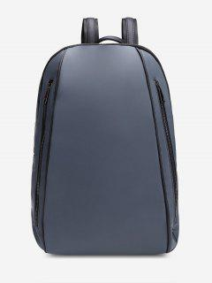 Front Zips Multipurpose Laptop Backpack - Deep Gray