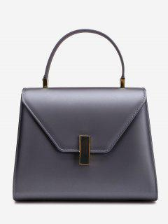 Flap Minimalist Handbag With Strap - Deep Gray