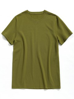 Short Sleeve Plain Tee - Army Green Xl