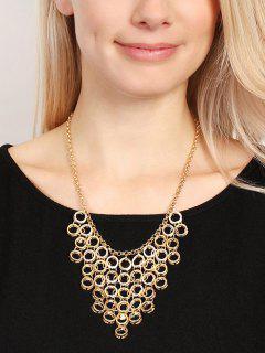 Collar De Suéter Colgante Pequeño Aro - Dorado