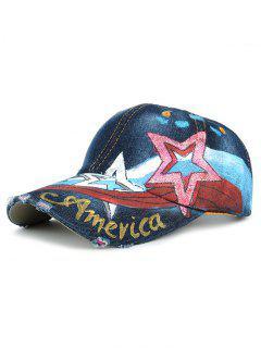 Patrón De Estrellas Embellecido Dibujo A Mano Gorra De Béisbol - 05 #