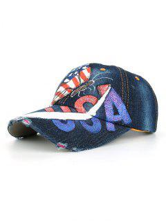 Dibujo A Mano Mariposa EE. UU. Bandera Sombrero De Béisbol - 05 #
