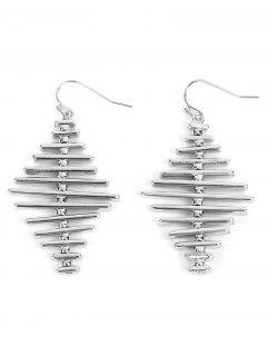Alloy Simple Geometric Bar Hook Earrings - Silver