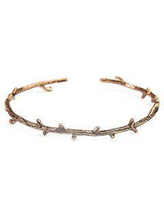 Alloy Tree Branch Vintage Cuff Bracelet - Golden