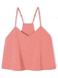 Camiseta Sin Mangas Con Popelina Ajustada Con Tirantes - Naranja Rosa L
