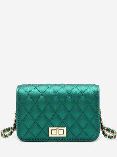 Quilted Chain Crossbody Bag - Green