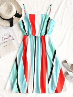 Casual Stripes Slip Mini Dress - Stripe M
