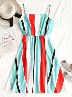 Cami Casual Stripes Mini Dress - Stripe L