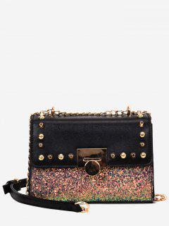 Studded Sequined Crossbody Bag
