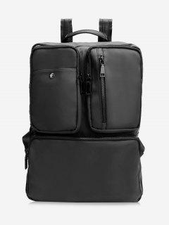 Multipurpose Laptop Waterproof Backpack - Black