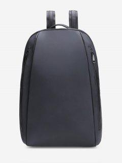 Front Zips Multipurpose Laptop Backpack - Black