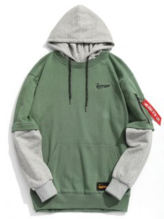 Pouch Pocket Pullover Hoodie Men Clothes - Green L