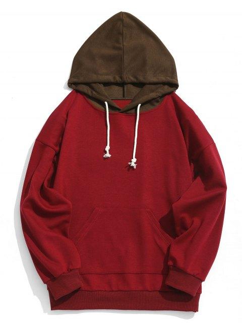 Sudadera con capucha para hombre con capucha de contraste - Rojo S Mobile