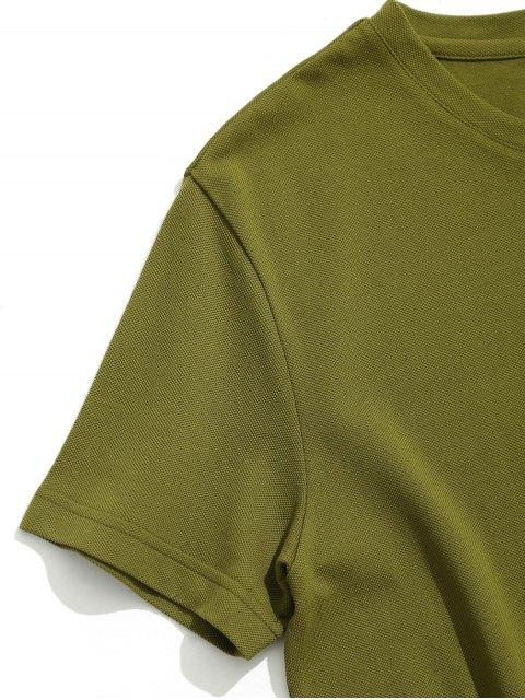 Camiseta sin mangas de manga corta - Ejercito Verde 2XL Mobile