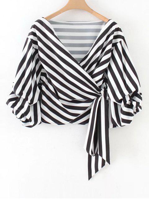 Blusa con pliegues en manga cuadrada - Raya L Mobile