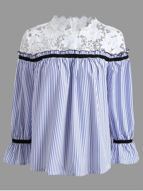 Blusa de panel de encaje de talla grande - Raya 2XL Mobile