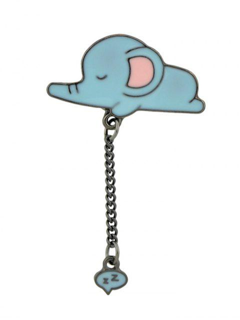 Tiny Cute Sleep Elephant Brooch - Azul  Mobile