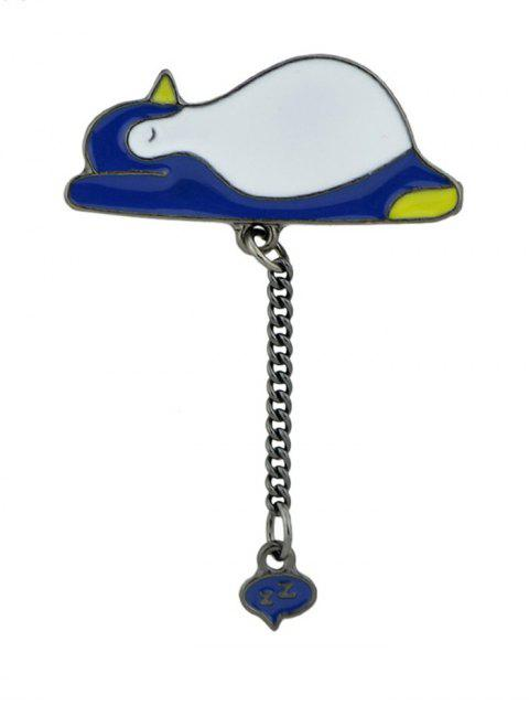Broche de cadena Tiny Cute Sleep Penguin - Azul Marino   Mobile