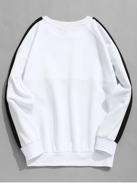 Sudadera con cuello redondo manga raglán - Blanco L Mobile