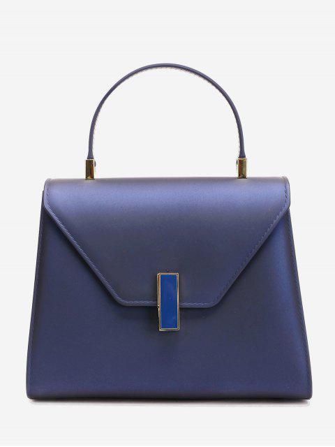 Bolso minimalista con solapa y correa - Azul Zafiro  Mobile