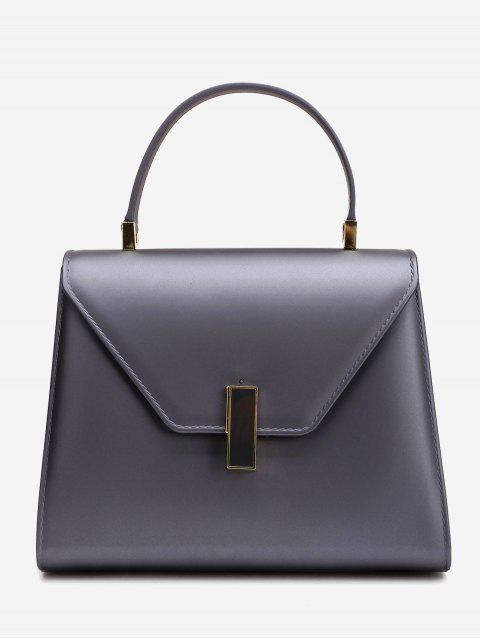 Bolso minimalista con solapa y correa - Gris Oscuro  Mobile