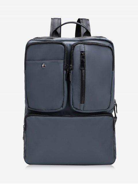 fashion Multipurpose Laptop Waterproof Backpack - DEEP GRAY  Mobile