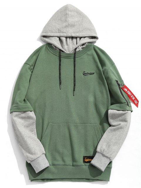 Pouch Pocket Pullover Hoodie Ropa de Hombre - Verde M Mobile