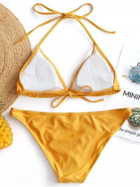 Shiny Halter Bikini Set - Amarillo S Mobile