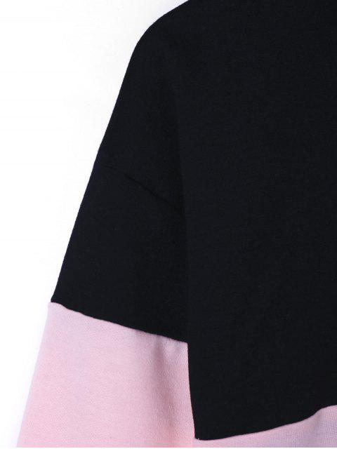 best Zip Neck Two Tone Sweatshirt - COLORMIX 2XL Mobile