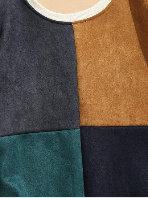 Sudadera con cuello redondo en color Suede Block Ropa de hombre - Colores Mezclados 2XL Mobile