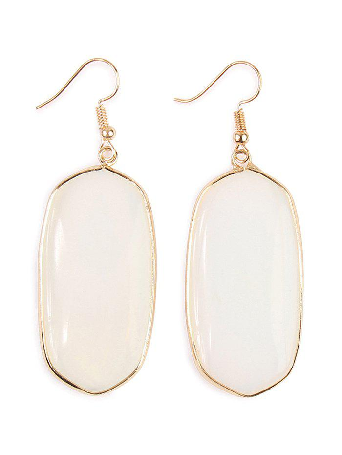 Artificial Gem Stone Dangle Drop Earrings