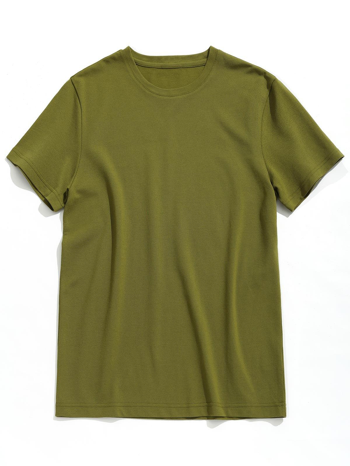 T-shirt Simple à Manches Courtes