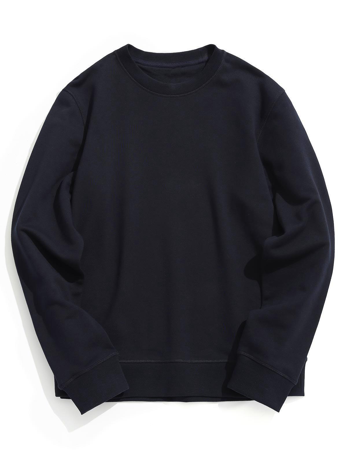 Sweat-shirt Simple à Col Ras du Cou