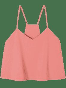 Sin Popelina Ajustada Xl Con Mangas Rosa Naranja Con Tirantes Camiseta ptCdxwqnp