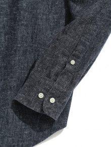 Camisa De Mandar Cuello De Gris Xl 237;n Bolsillo De Oscuro Hr4Hvq