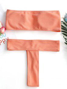 d5c5523ce7d77 Textured Bandeau Thong Bikini Set; Textured Bandeau Thong Bikini Set ...