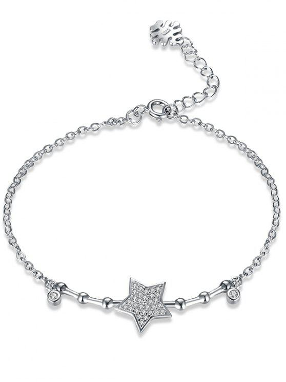 Stern Sterling Silber Armband - Silber