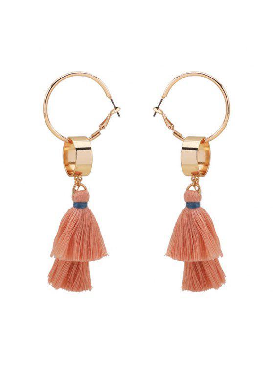 sale Alloy Bohemian Tassel Hoop Drop Earrings - GOLDEN