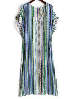 Printed Chiffon Kaftan Dress