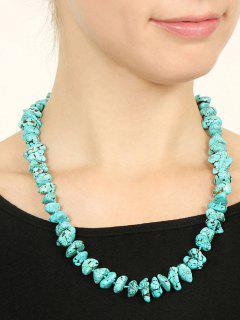 Irregular Exaggeration Simulated Turquoise Necklace - Light Blue