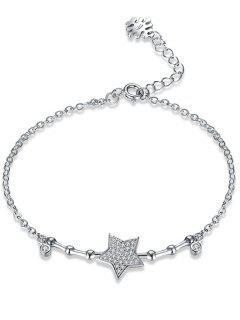 Star Sterling Silver Chain Bracelet - Silver